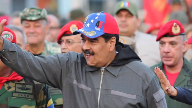 Socialist dictator of Venezuela Nicholas Maduro in a youtube screenshot. On November 30 the U.S. state department put sanctions on a Chinese company CEIEC for dealing with the Venezuela regime