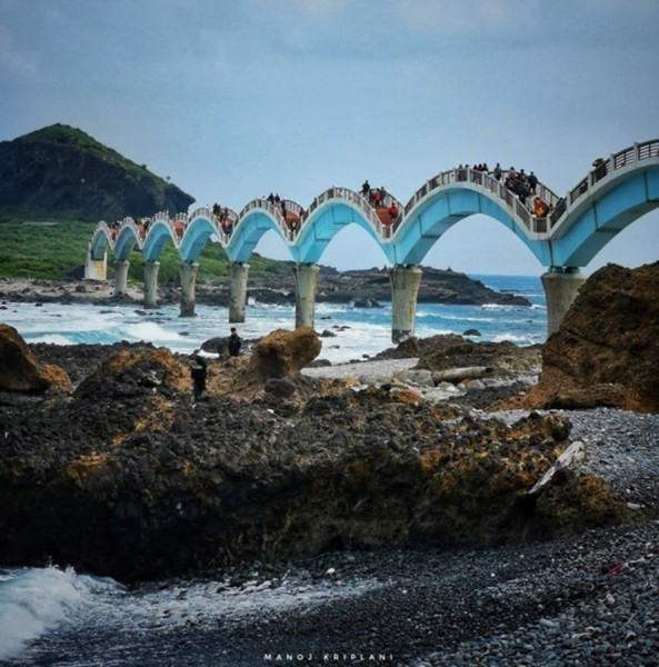 Sanxiantai is one of the most beautiful spots on Taiwan's East Coast. (Image: Courtesy of Manoj Kriplani)
