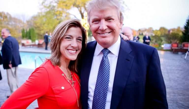Donald Trump pictured with media personality Tana Goertz in 2016