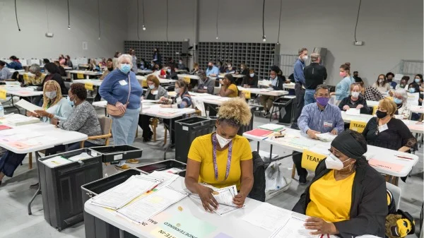 Recount of Georgia ballots for the U.S. 2020 presidential election underway in Lawrenceville, Gwinnet, County, Georgia, on Nov. 16, 2020. Georgia is a key swing state. (Image: Megan Varner/Getty Images)Recount of Georgia ballots for the U.S. 2020 presidential election underway in Lawrenceville, Gwinnet, County, Georgia, on Nov. 16, 2020. Georgia is a key swing state. (Image: Megan Varner/Getty Images)