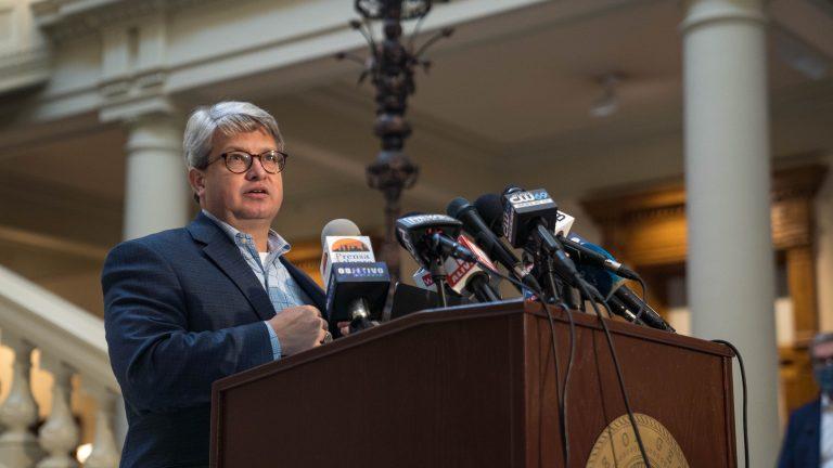 Georgia Secretary of State Brad Raffensperger. (Image: Megan Varner/Getty Images)