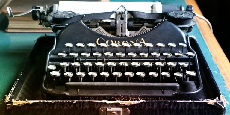 A manual typewriter