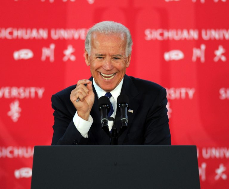"""U.S. Vice President Joe Biden lectures at Sichuan University during his visit to China on August 21, 2011 in Chengdu, Sichuan Province of China. (Image: Getty Images) Communist China is eager to reconnect with its """"old friends"""" after Biden becomes president."""