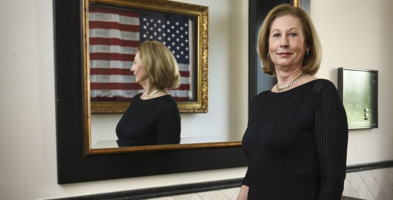 """Sidney Powell, author of the bestseller """"Licensed to Lie"""" and lead counsel in more than 500 appeals in the 5th Circuit, in Washington on May 30, 2019. interview with The Epoch Times"""