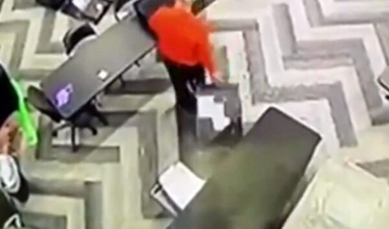 security fooatge from state farm arena in fulton county georgia ga allegedly shows an election worker taking uncounted ballots after hours on November 3 nov 3 2020 election day