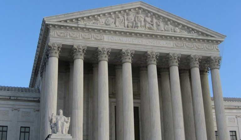 Pennsylvania congressman Mike Kelly has filed a lawsuit with the U.S. Supreme Court to challenge the results of the presidential election in the Keystone State. The Supreme Court is pictured in Washington D.C. on a clear day