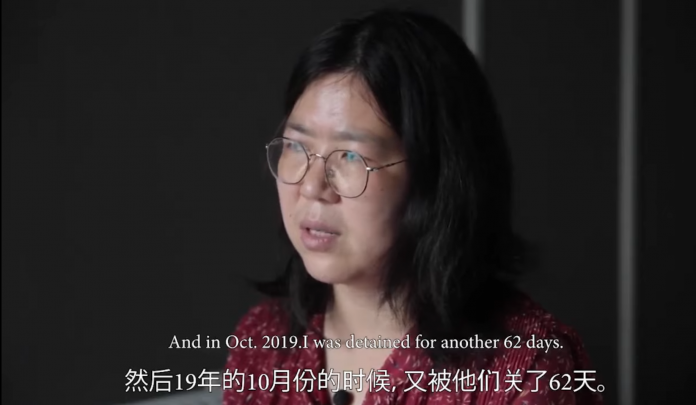 Zhang Zhan, a Chinese citizen journalist arrested for covering the CCP virus corornavirus COVID-19 outbreak in Wuhan.