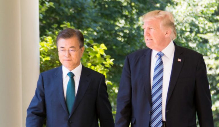 South Korean President, Moon Jae-in, asked President Biden to follow and improve on Trump's diplomacy with regard to North Korea.