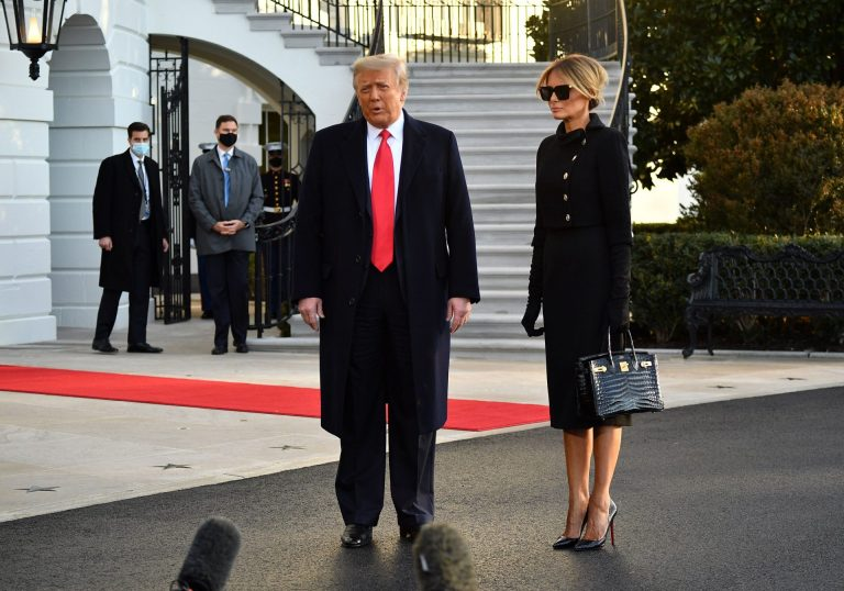Trump left the White House on January 20, choosing not to attend Biden's inauguration ceremony.