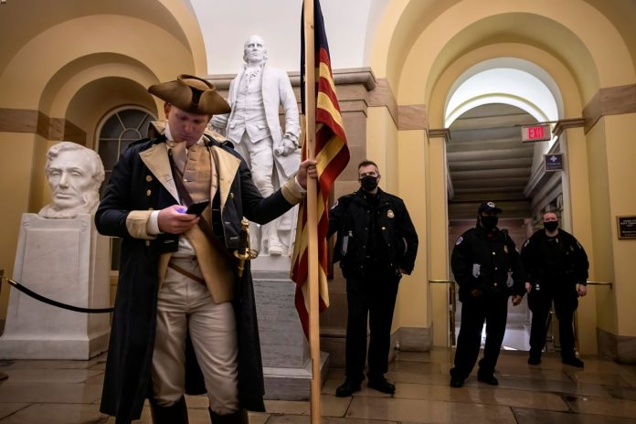 Thirty five members of the Capitol police are under an internal investigation, though officials did not elaborate why they are being investigated.