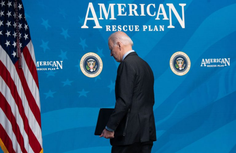 """Joe Biden - Republicans have accused Democrats of turning the $1.9 trillion stimulus package into a """"progressive wish list"""" that is light on actual pandemic relief."""