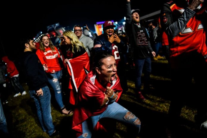 Staunch proponents of lockdown measures and social distancing to combat the SARS-CoV-2 novel coronavirus pandemic lambasted Tampa Bay Buccaneers fans for partying after their team won the historic Super Bowl 55 on Feb. 7.