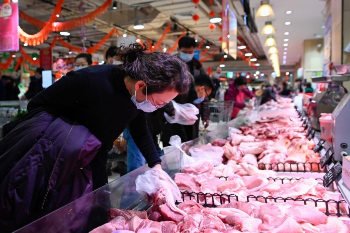 China has admitted that its food supply does at times come under pressure.