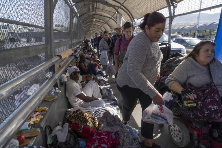 Migrants are pouring into the United States through the southern border due to the Biden administration's lax immigration policies.