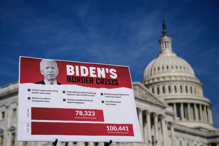The number of migrants crossing through the Mexico border is set to hit a two-decade high, presenting a grave problem to Biden's administration.