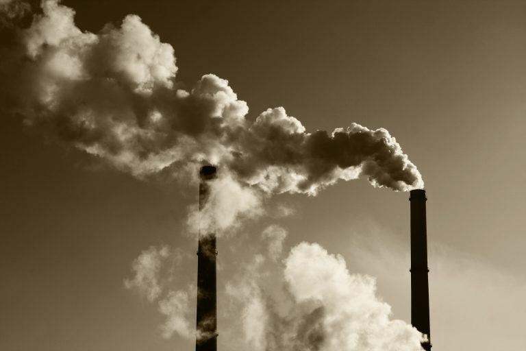 polluting smokestacks