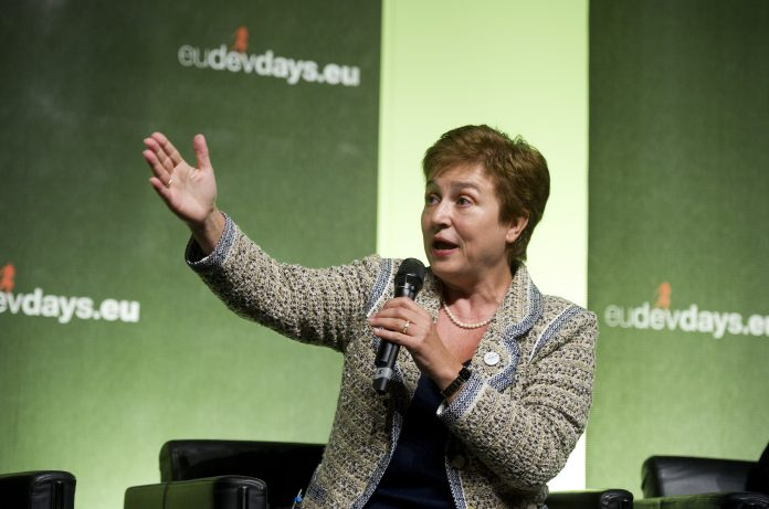 Experts at a meeting earlier this month between the World Bank and International Monetary Fund (IMF), including IMF director Kristalina Georgieva, discussed measures to help ease debt burden in poor countries.