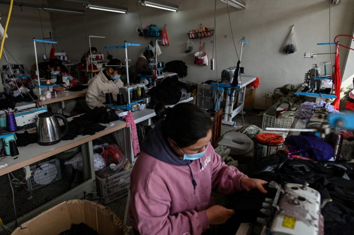 chinese clothing factory in jiangsu province
