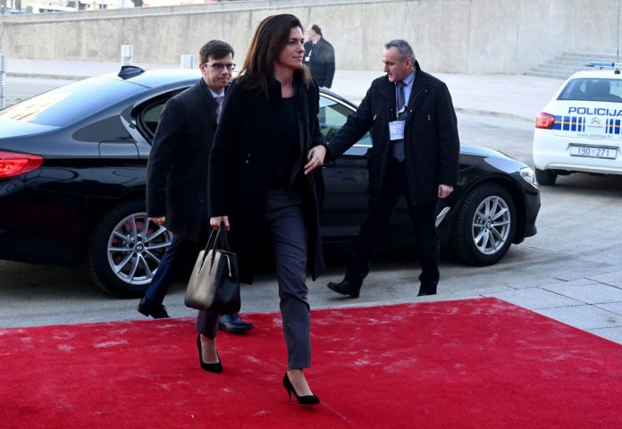 Hungary's Minister of Justice Judit Varga arrives for the Informal Justice and Home Affairs Ministerial Meeting in Zagreb on January 23, 2020.