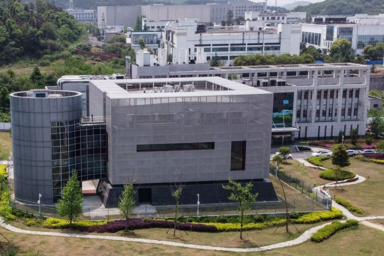 An aerial view shows the P4 laboratory at China's only Biosecurity Level 4 lab, the Wuhan Institute of Virology, on April 17, 2020. Some investigations suggest gain-of-function research was being conducted at the facility.