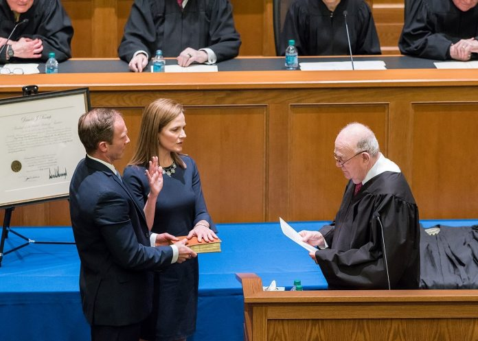 Justice Amy Coney Barrett, who was appointed to her post by former President Donald Trump as a replacement for Justice Ruth Bader Ginsburg, has given her first Supreme Court majority opinion. Barrett denied an environmental group from gaining access to government records.