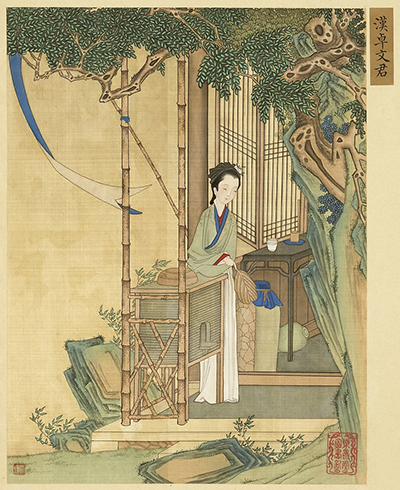 This painting by He Dazi depicts the legendary beauty Xi Shi of Wu.