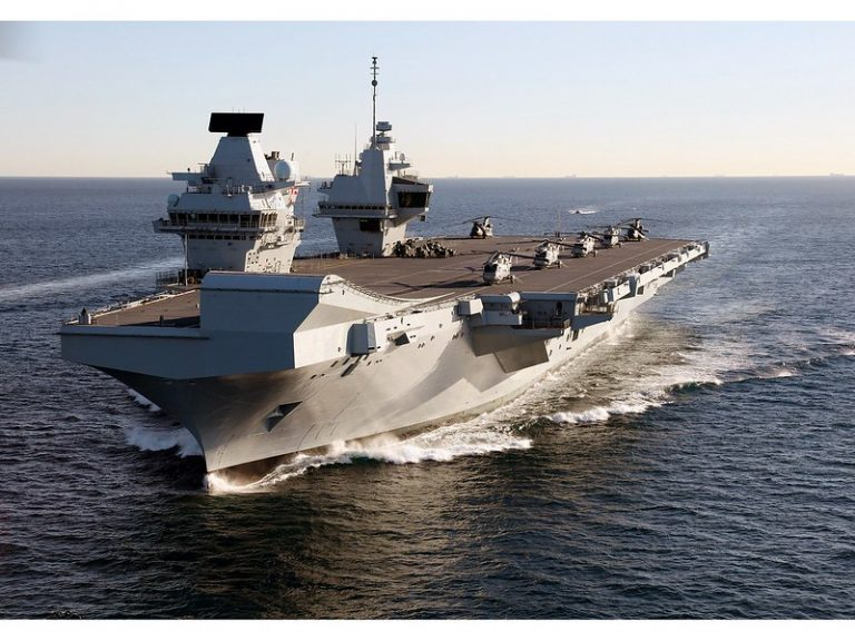 HMS Queen Elizabeth will visit 40 nations in a display of Britain's military strength in Asia.