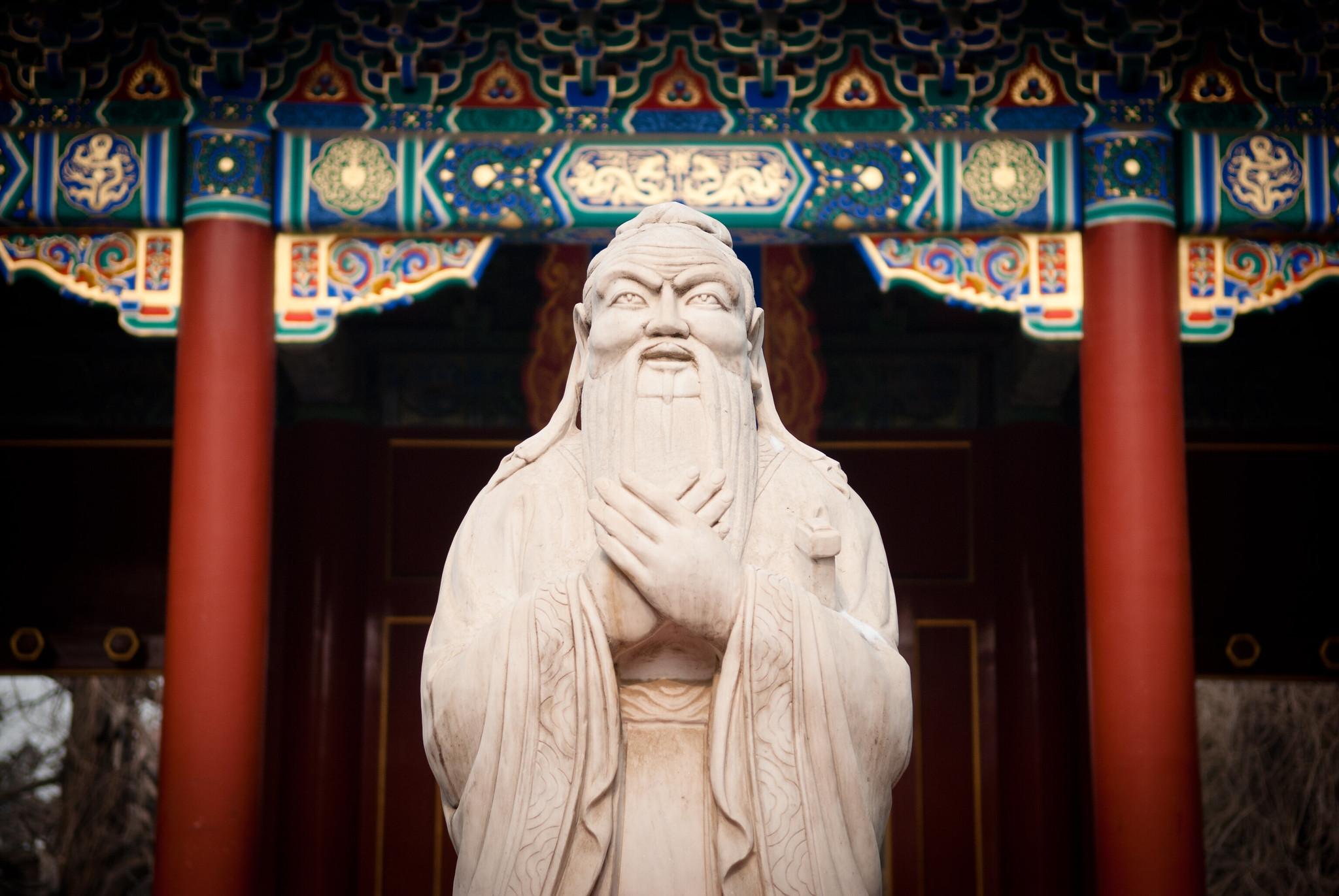 Confucio insegnò al suo discepolo Zi Gong molti principi di vita che portarono il talentuoso studente a diventare un eccezionale uomo d'affari. (Immagine: Vincentraal tramite Flickr CC BY-SA 2.0)