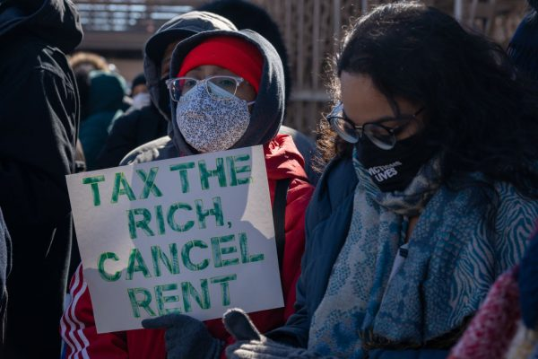 Protestors march across the Brooklyn Bridge demanding free rent paid for by taxation on the wealthy on March 5, 2021 in New York City. Socialist-style unemployment handouts have created market conditions where people are given taxpayer-funded checks for staying at home. While the labor shortage leads to an increase in wages as companies struggle to hire qualified staff, it will also lead to an increase in the cost of goods and services.