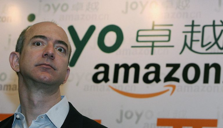 Jeff Bezos talks to the press during a news conference in Shanghai in June of 2007. An investigation by a cybersecurity firm into an unsecured ElasticSearch database located in China revealed an organization, most likely Chinese, had collected data on tens of thousands of Amazon vendors and hundreds of thousands of individual reviewers who participated in a scheme to sell 5-star Amazon ratings in exchange for free merchandise.
