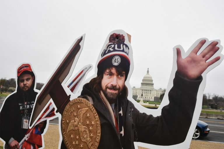 An effigy of Twitter CEO, Jack Dorsey, dressed as a Capitol riot participant, is placed near the Capitol Building in Washington, D.C., on March 25, 2021. Rep. Mo Brooks says the Big Tech cartel's stranglehold on online speech is becoming more and more like what goes under the Chinese Communist Party and wants to curtail the trend before it becomes too late to control.