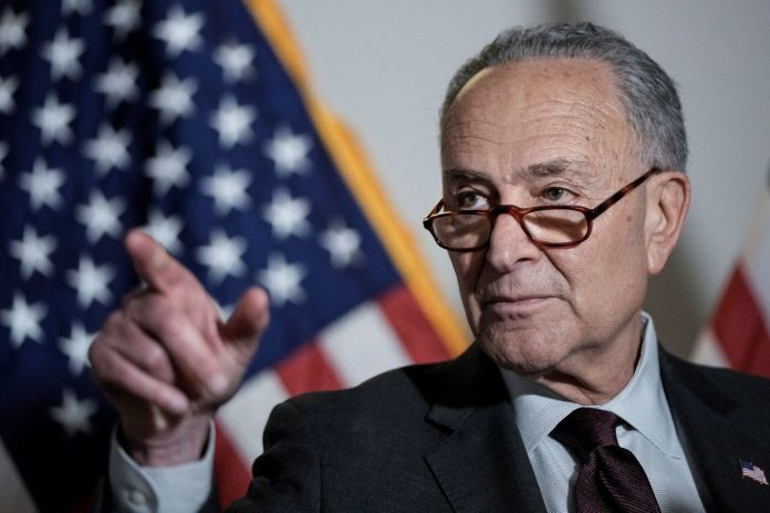 Chuck Schumer senate leader endless frontier act may 18 2021