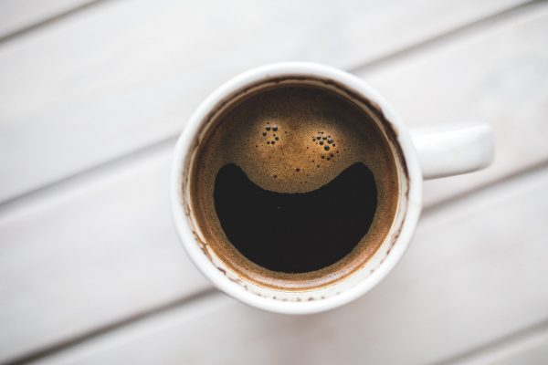 Happy coffee. Although many people associate this caffeine-laden brew with their morning happiness, there can be meaningful side effects in the consumption of coffee.