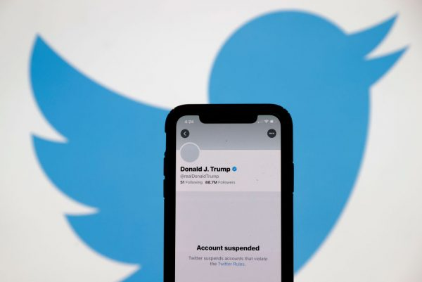 Twitter permanently suspends President Donald Trump's Twitter account.