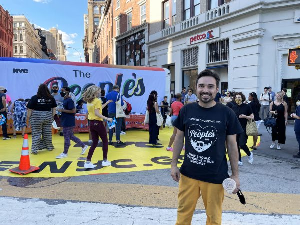 Yazmany Arboleda, who is the artist-in-residence New York City Civic Engagement Commission and designer of the People's Bus.