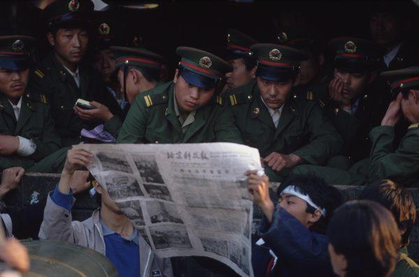 studenti cinesi in protesta