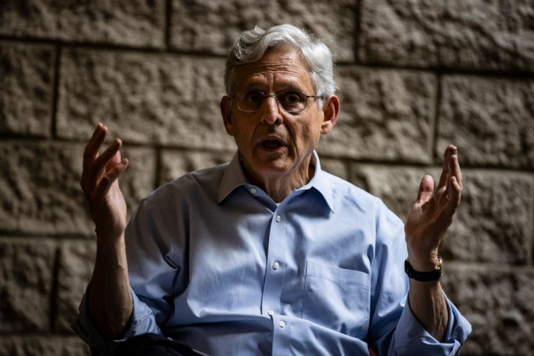 """U.S. Attorney General Merrick Garland holds a listening session on reducing gun violence at St. Agatha Catholic Church on July 22, 2021 in Chicago, Illinois. Garland's Department of Justice issued July 28 guidance warning states conducting 2020 Presidential Election """"examinations"""" (audits) the practices may violate federal law."""