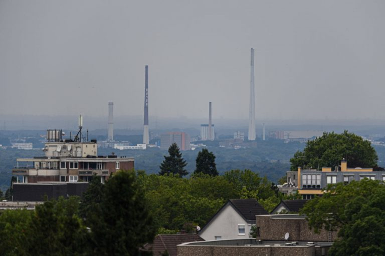 General view of the Bayer Chemical Plant on July 27, 2021 in Leverkusen, Germany. Chempark houses chemical giant Bayer, the company that founded the football team, by employees of the pharmaceutical firm.