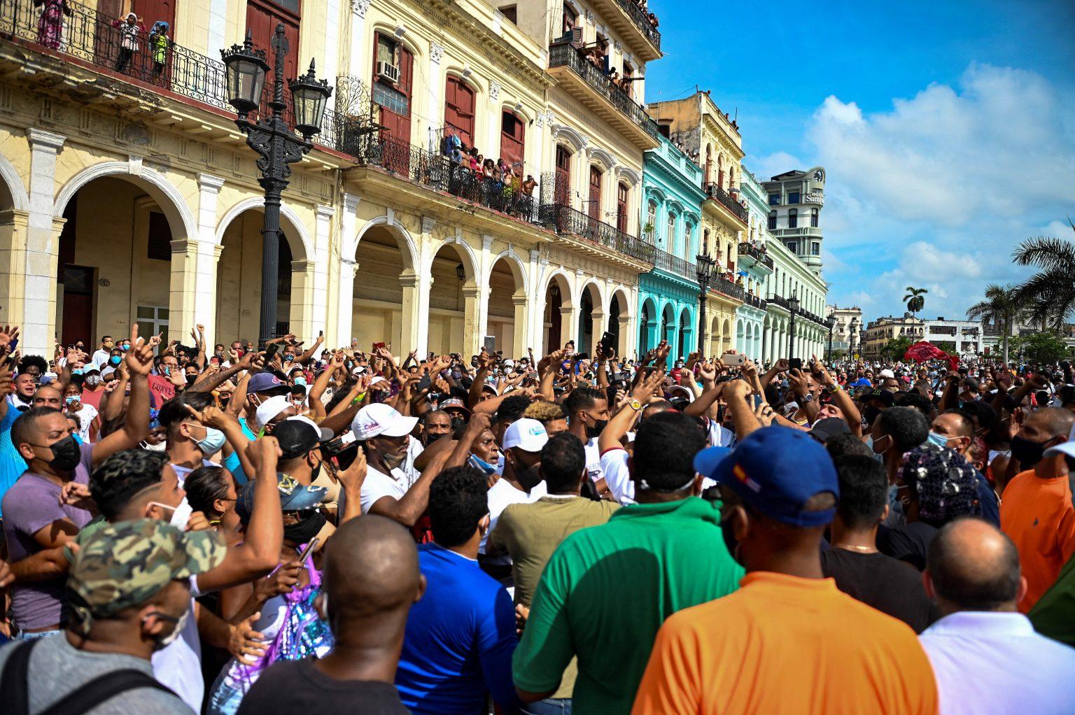 cubani proteste