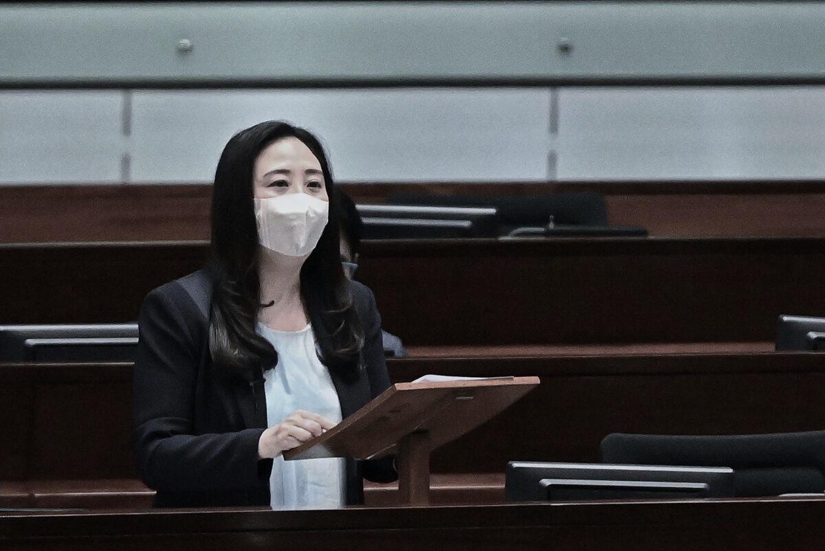 Elizabeth Quat, una legislatrice di Hong Kong