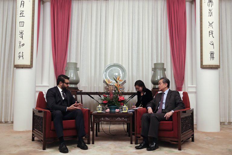 Afghanistan_Hamdullah Mohib_Meets_China_Wang Yi_GettyImages-1079957694