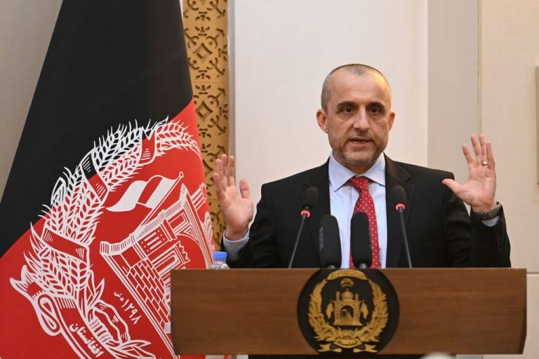 Former Vice President of Afghanistan, Amrullah Saleh, who has declared himself acting President of Afghanistan under the country's 2004 Constitution after former President Ashraf Ghani fled the country, speaks during a function at the Presidential Palace in Kabul on August 4, 2021. Saleh has said ISIS-K, responsible for the suicide bombings at Kabul Airport, is simply a branch of the Taliban and not an independent organization.