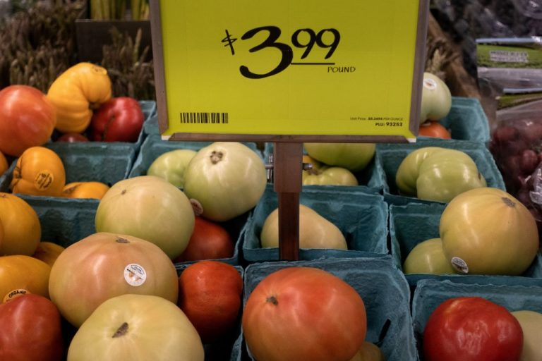 A view of fruit and vegetables at an area grocery store August 12, 2021, in Washington, DC. The US inflation report showed consumer prices rising significantly for energy and food in July.