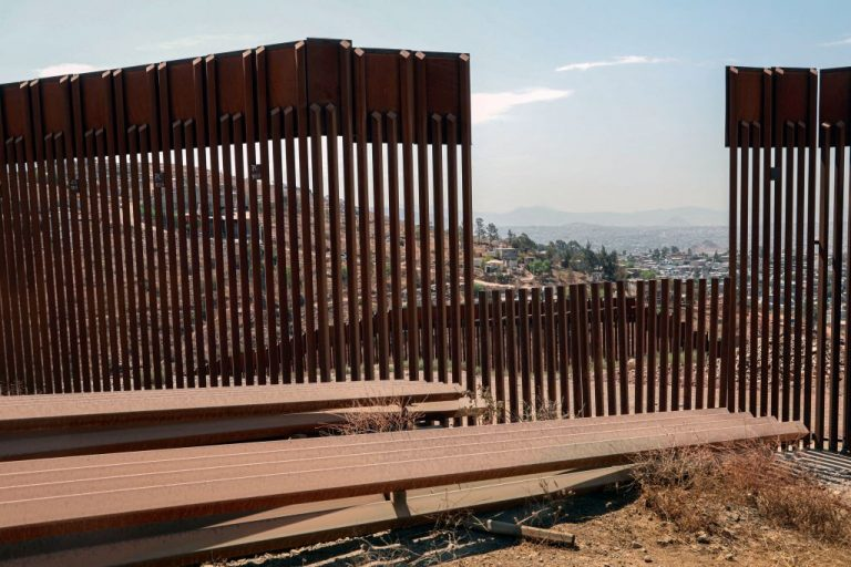 """View of the U.S.-Mexico border wall in Otay Mesa, California on August 13, 2021. A Department of Homeland Security whistleblower told Project Veritas members of violent international gangs who are involved in sex trafficking and child exploitation are exploiting a """"Reasonable Fear"""" loophole to gain asylum seeking status and are attempting to sponsor orphaned migrant children."""