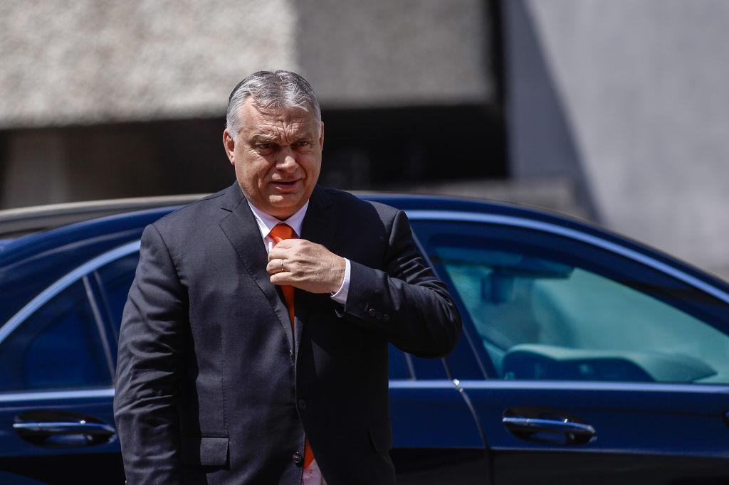 30 giugno 2021, Katowice, Polonia. Il primo ministro dell'Ungheria, Viktor Orban, arriva all'International Congress Center per una riunione dei capi di Stato del gruppo di Visegrada. In un'intervista con Tucker Carlson, Orban ha espresso il suo disprezzo per il governo liberale occidentale, ma mantiene comunque stretti legami con il partito comunista cinese. (Immagine: Omar Marques/Getty Images)