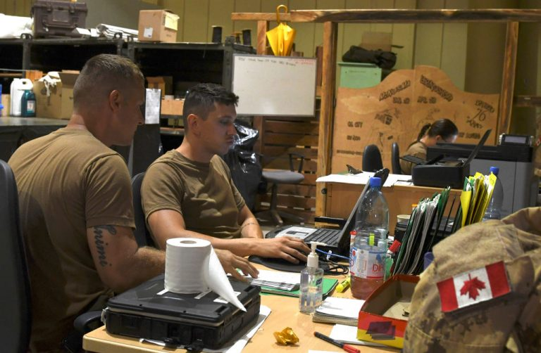 Canadian soldiers participating in a United Nation mission in Mali Minusma, on August 4, 2018. The Canadian Joint Operations Command sought to deploy a psyops campaign targeting civilians when the COVID-19 pandemic first broke out last year.