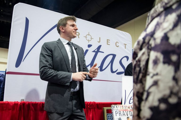 James O'Keefe, founder of Project Veritas, an investigative reporting team, meets with supporters during the Conservative Political Action Conference 2020 (CPAC) on February 28, 2020 in National Harbor, MD. Jodi O'Malley, a registered nurse at a Health and Human Services (HHS) hospital, provided undercover video from her hospital alleging vaccine adverse reactions were both common and underreported.