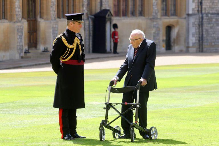 100-year-old WWII veteran Captain Tom Moore.