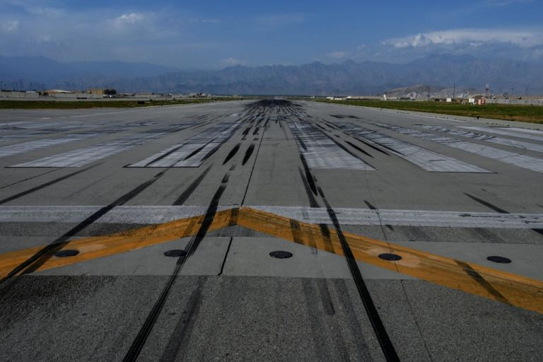 General view of the tarmac inside the Bagram Airfield after all U.S. and NATO troops withdrew on July 5, 2021. Reports say the Chinese Communist Party is looking to plant roots in Bagram by way of a ruling Taliban government.
