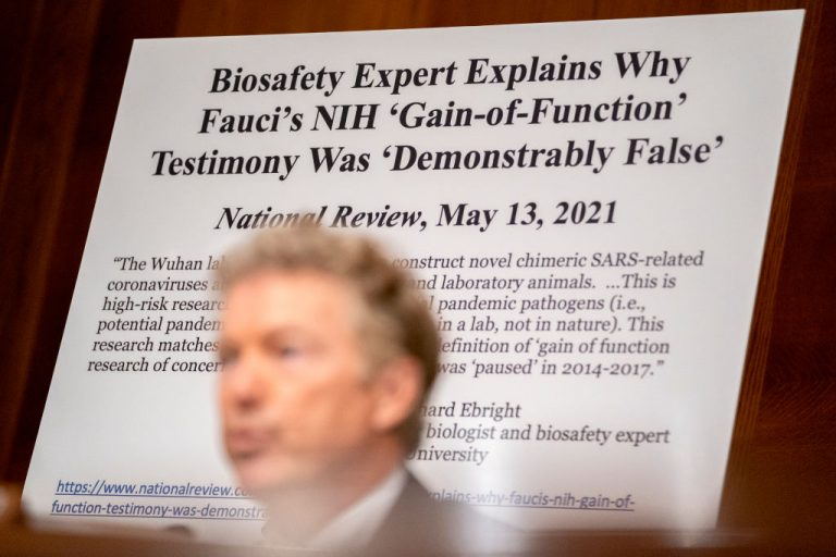YouTube censored Senator Rand Paul who uploaded a video on the platform about Washington funding a Chinese lab believed to be the origin of COVID-19.